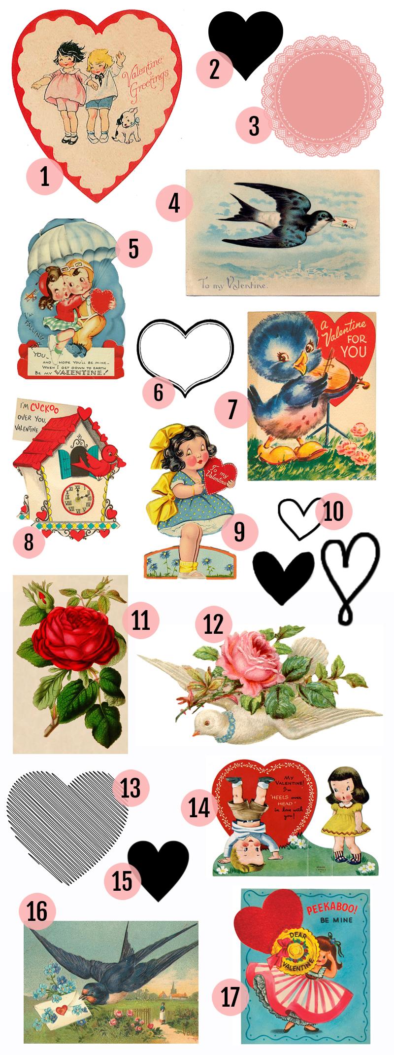 Maggie Holmes Vintage Valentines Printables