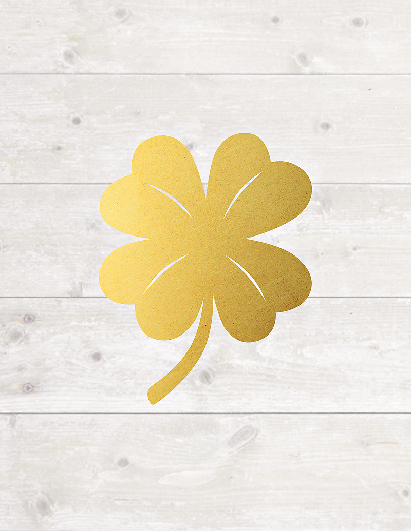 Maggie Holmes Free Printable Gold Four Leaf Clover