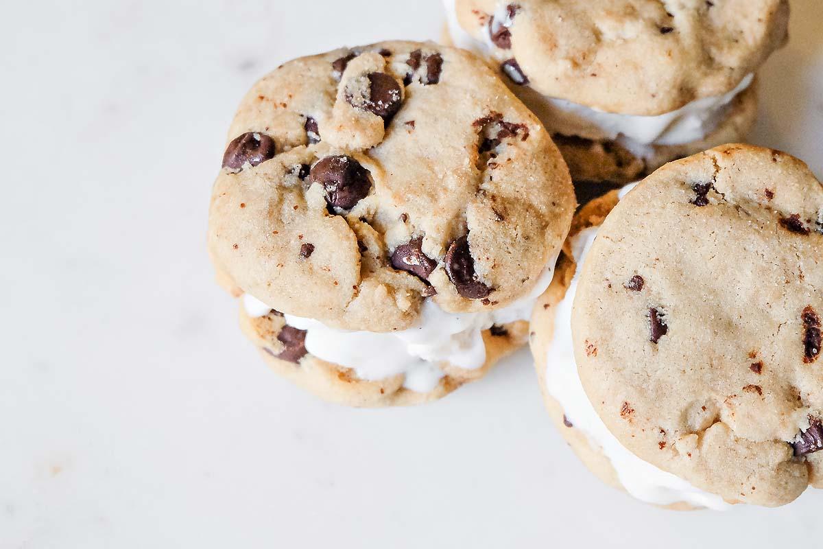 Cookie Ice Cream Sandwiches Gluten Free & Dairy Free-6