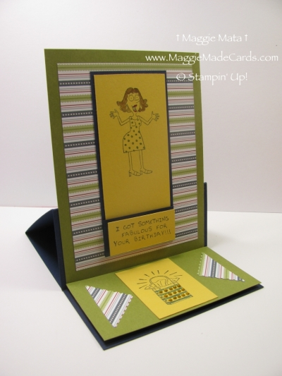 I First Saw This Card Style On A Video Called Create An Easel With Brian Pilling From The Stampin Up Corporate Office Created