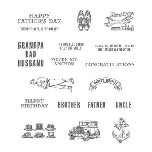 Guy Greetings stamp set 138825G
