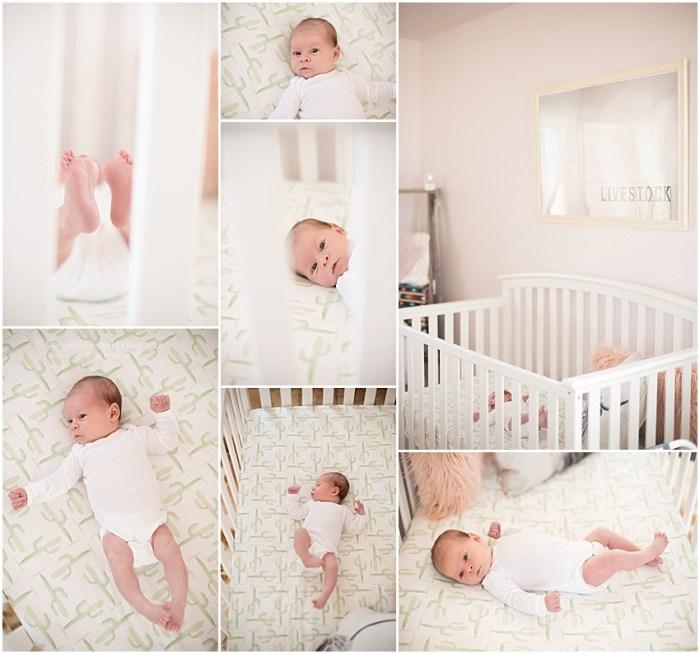 modern and feminine nursery