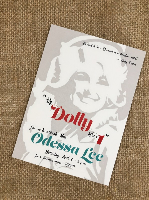 custom Dolly Parton invitation