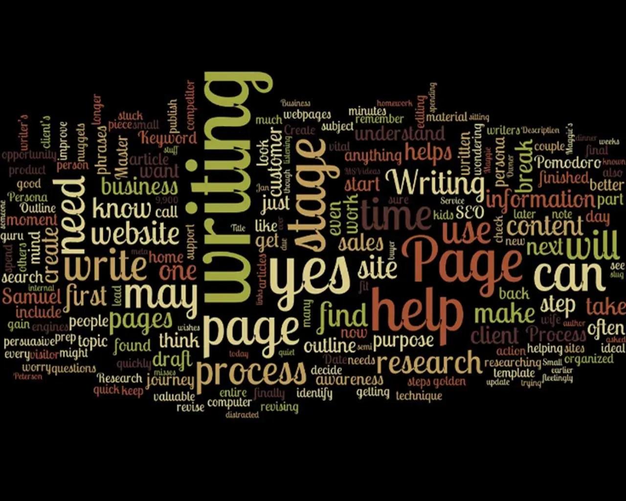 Writing Process Word Cloud