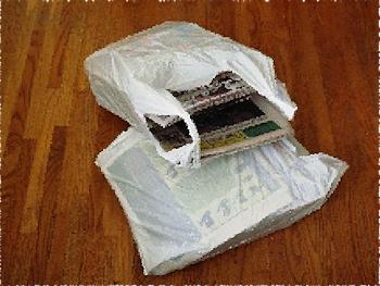 Bagged newspapers DSCF3611