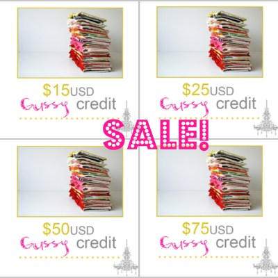 {SALE :: gift certificates}