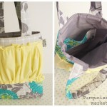{a Gussy Sews giveaway ~ Turquoise Grid market tote}
