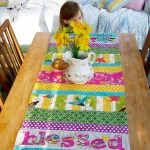 {saturday craft: Blessed Nest table runner}