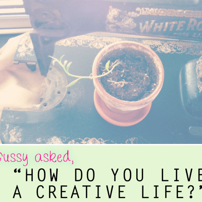 "{a NEW mini-series: ""How I live a creative life,"" featuring The Tiny Twig}"