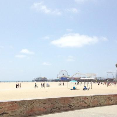 {Sunkissed at Santa Monica beach.}
