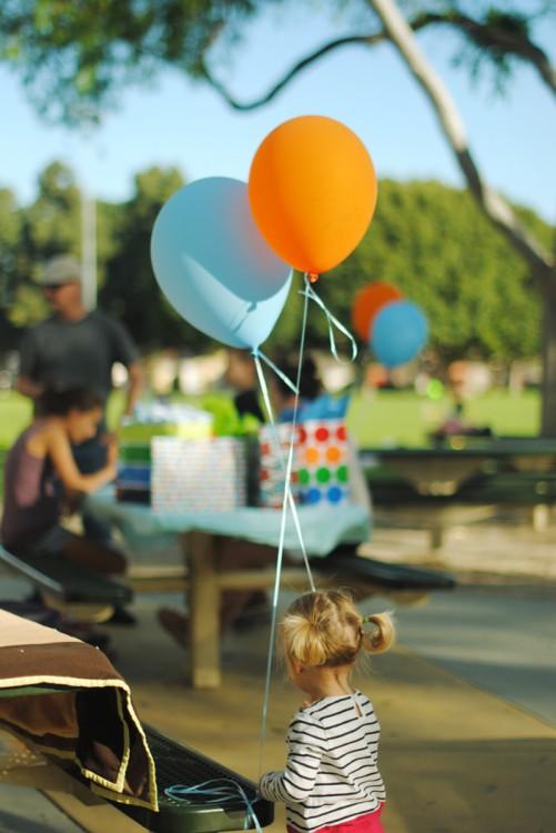 olivia balloons birthday party