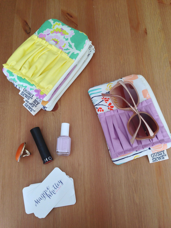 gussy sews medium zip pouch