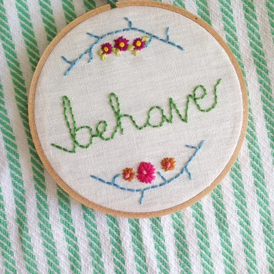 My latest embroidery hoop project.