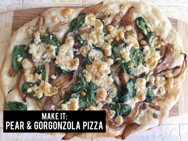 pear & gorgonzola pizza   maggie whitley