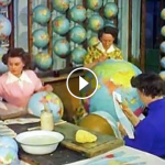 The process of making a globe.