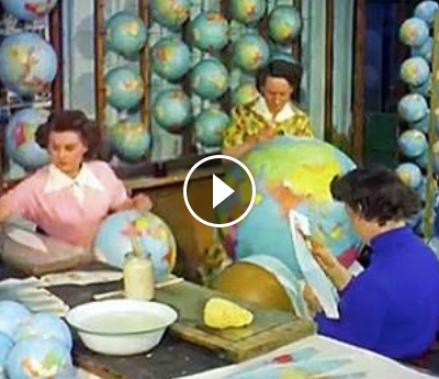 The process of making a globe. [video]