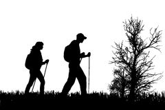 vector-silhouette-people-nordic-walking-nature-47098045[1]