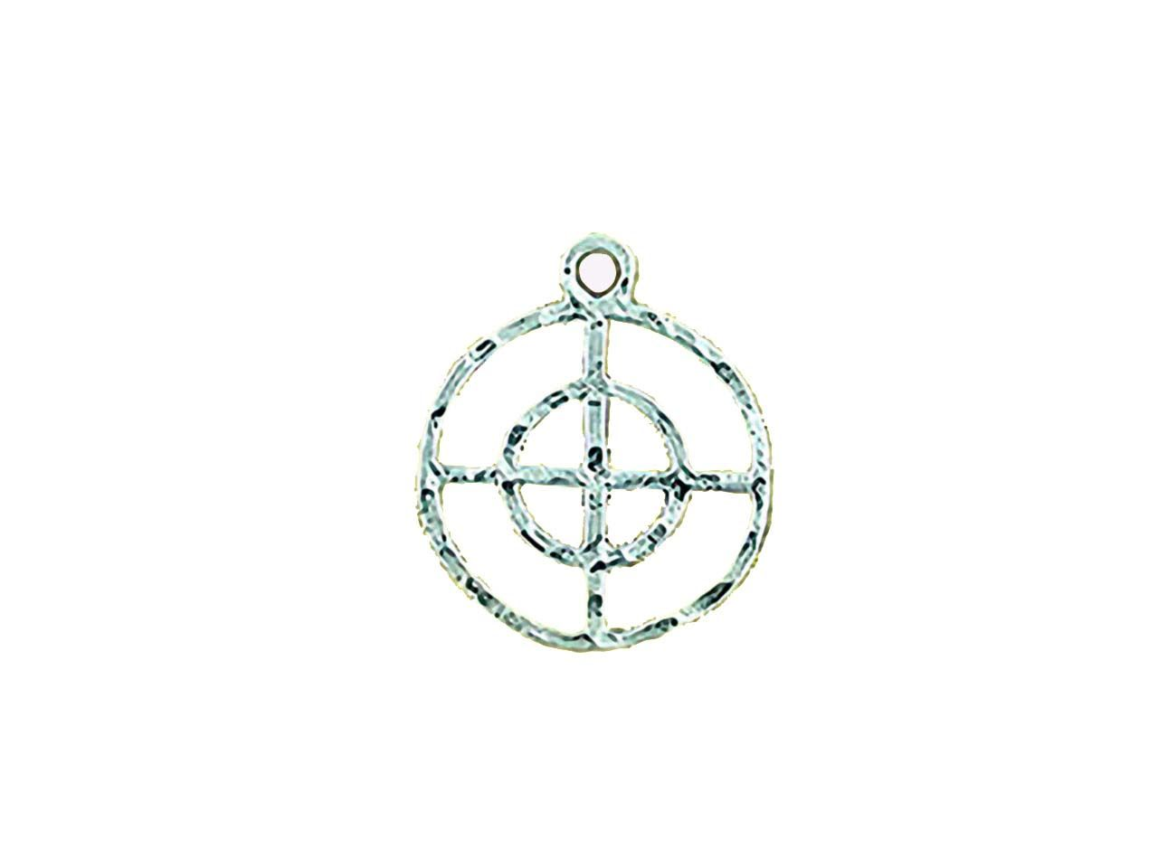 Sterling Silver Feng Chui Charm Element Metal 13mm