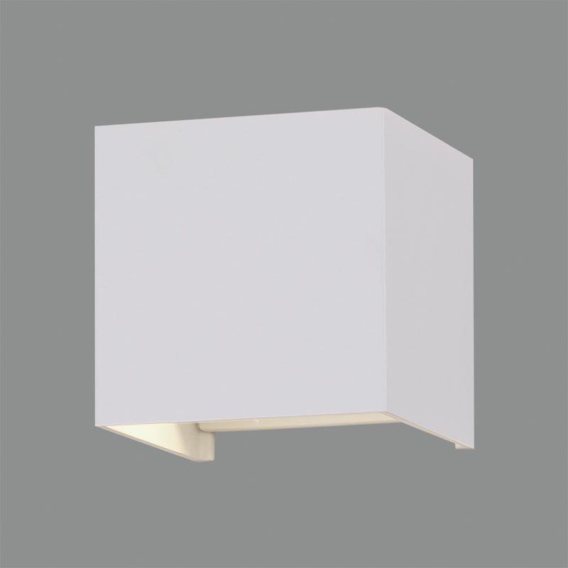 Applique Led Cubo Lampada Da Parete Kendo 10W  Luce Regolabile Colori: Bianco/nero