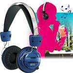 【ブルー】 Bluetooth version2.1対応 ステレオ再生ワイヤレスヘッドフォン