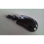 【ブラック】 巻取りリール式 光学式マウス KM-M2BK-2 ブラック 2個セット