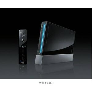 Wii本体 新パッケージ【クロ】