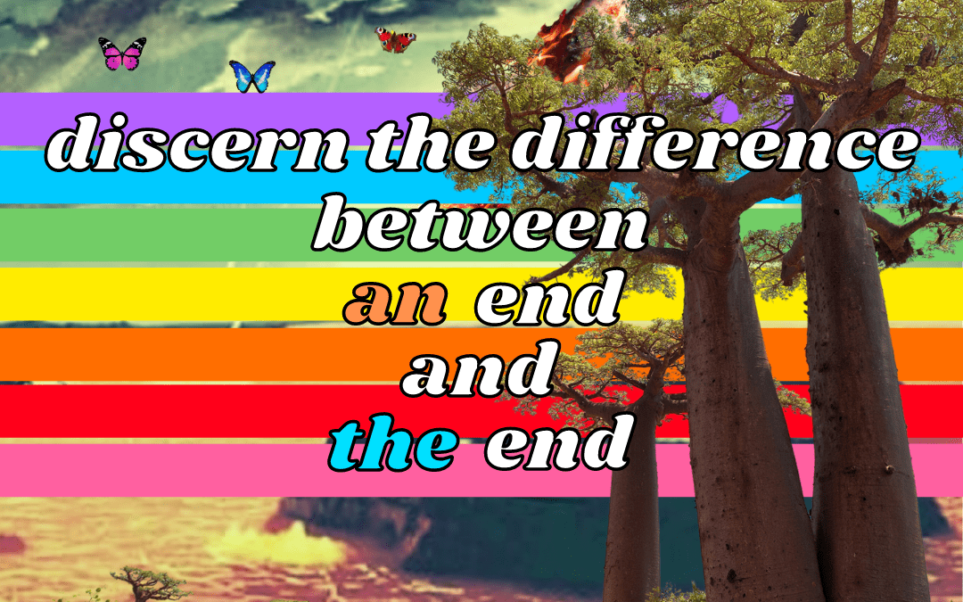 DISCERN THE DIFFERENCE BETWEEN AN END AND THE END