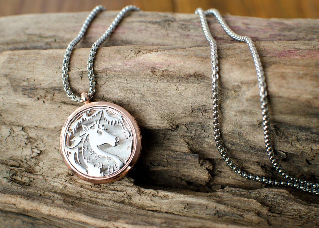 Beautiful Unicorn Aromatherapy Necklace Pendant Imbolc