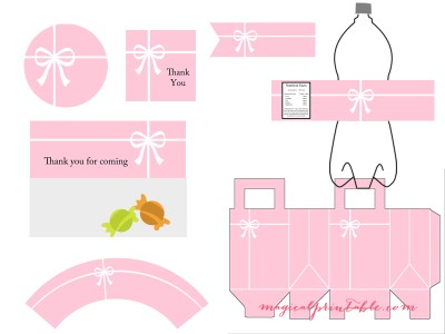 tiffany pink party printable tiffany pink baby shower printable tiffany pink bridal shower package