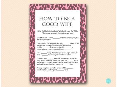 Pink Leopard Bridal Shower Games Magical Printable