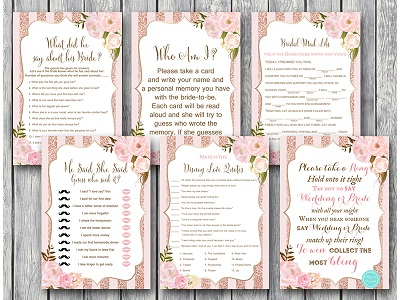 25e9bd1befb Instant Download Bridal Shower Games - Magical Printable