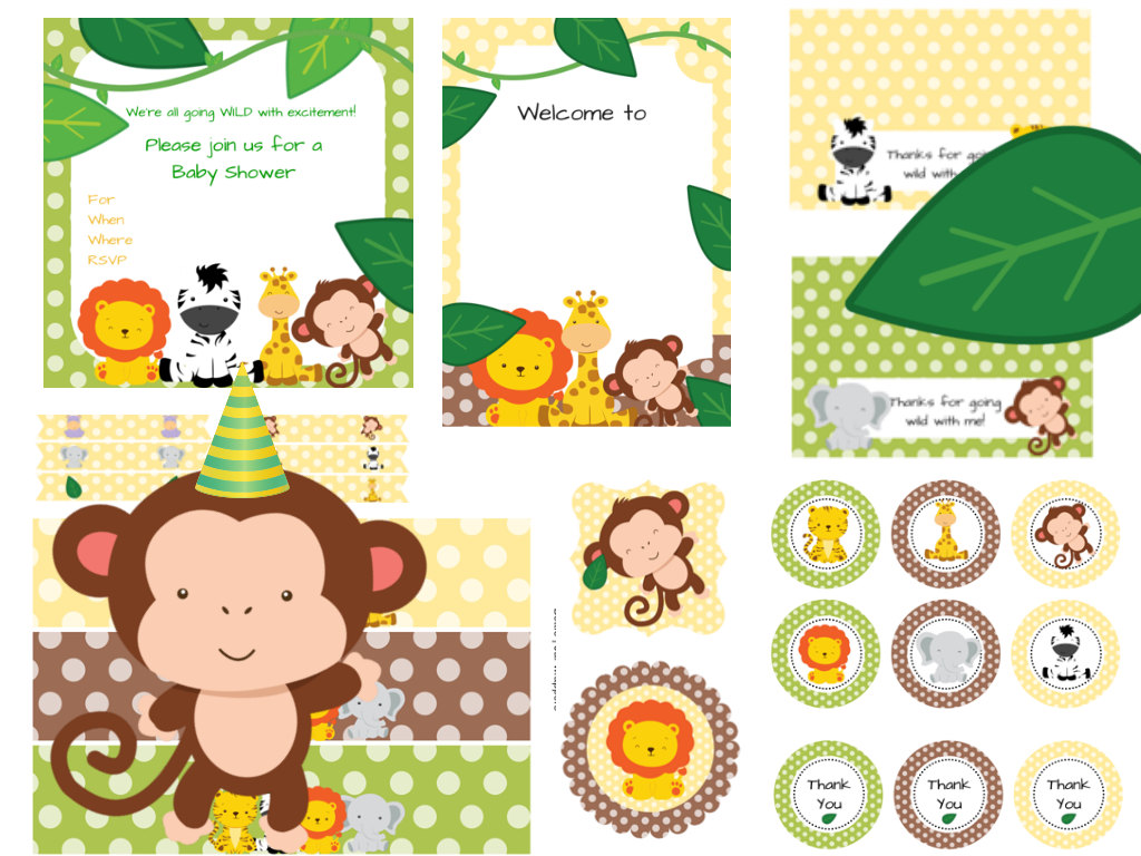 Jungle Baby Shower Pack