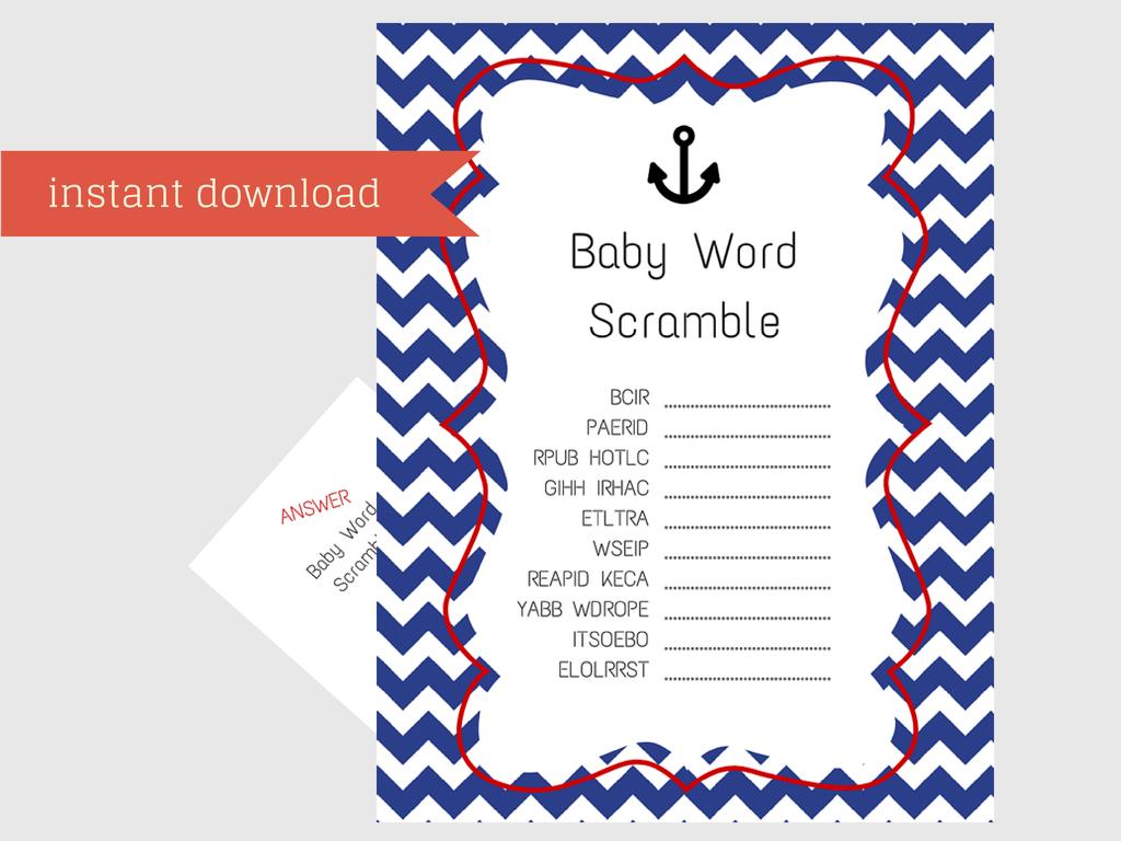 Nautical Boy Baby Shower Games