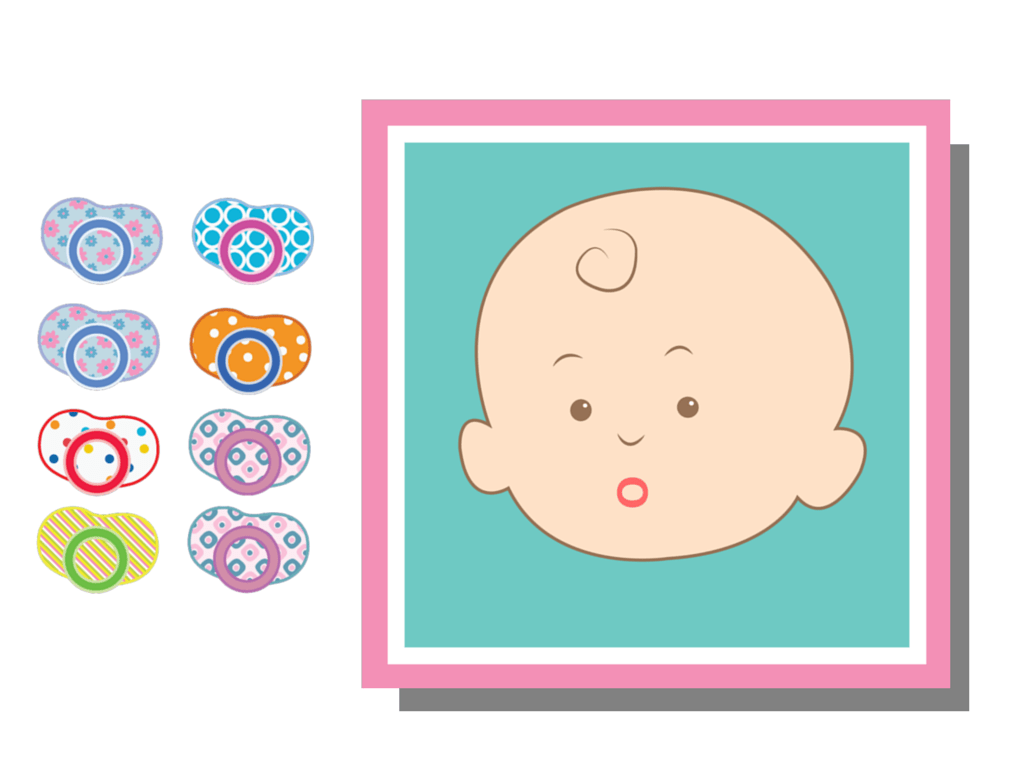 Pin The Dummy On Baby Mouth Baby Shower Game