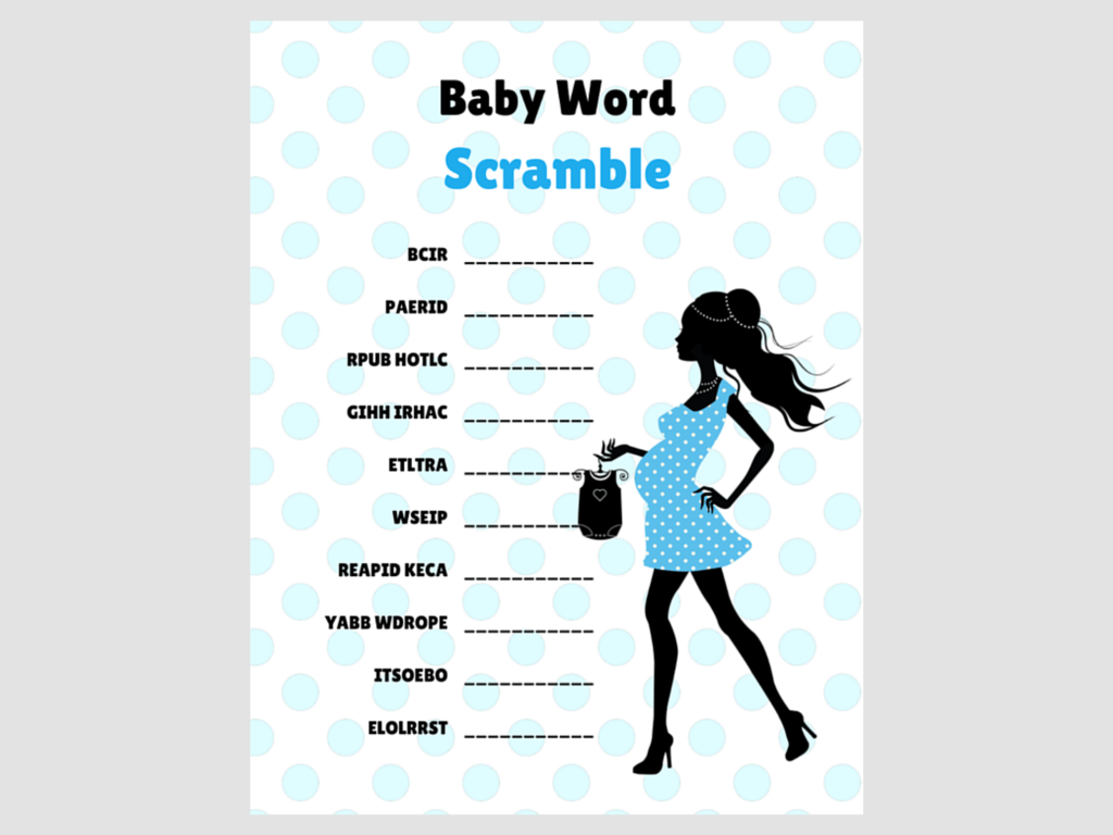 Blue Chic Baby Word Scramble