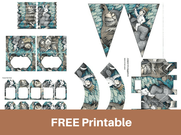 It is a photo of Selective Where the Wild Things Are Printables for Free