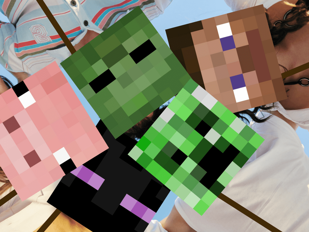 Minecraft Photo Booth Props - Magical Printable
