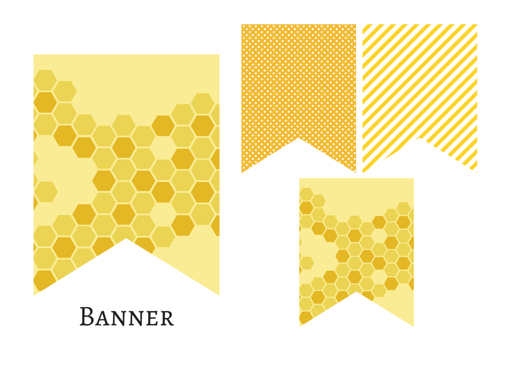 Bee Honey Comb Banner