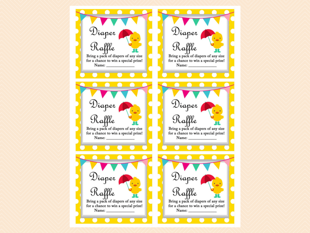 Whimsical Duck Baby Shower Games