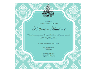 Editable Tiffany Invitations Magical Printable
