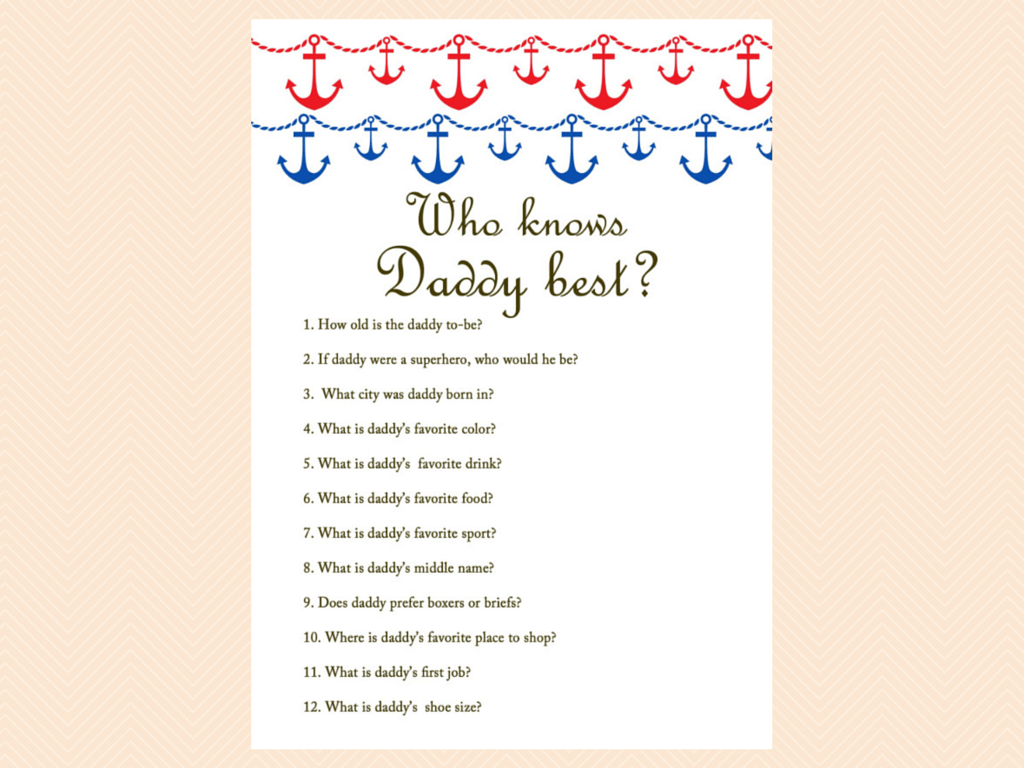 Who Knows Mommy Best Baby Shower Game Questions