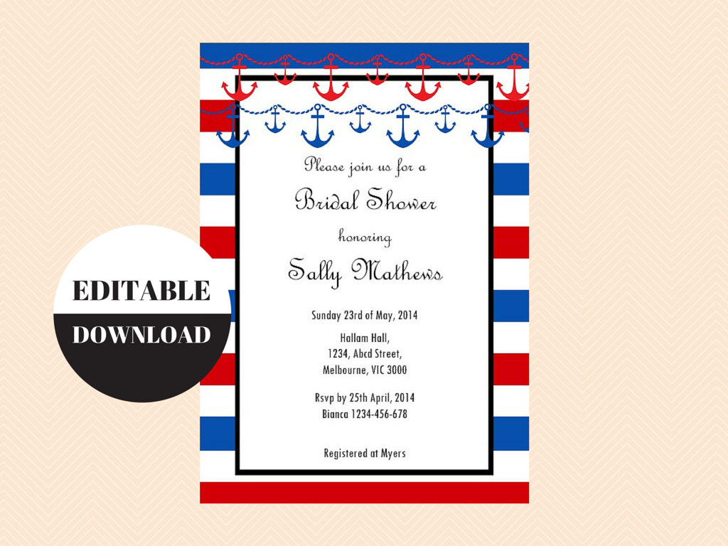 Nautical Bridal Shower Game Package - Magical Printable