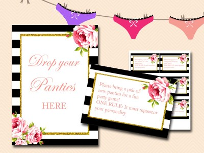 Printable bridal shower games activities page 2 magical printable guess the panty bridal shower game wedding shower stopboris Image collections