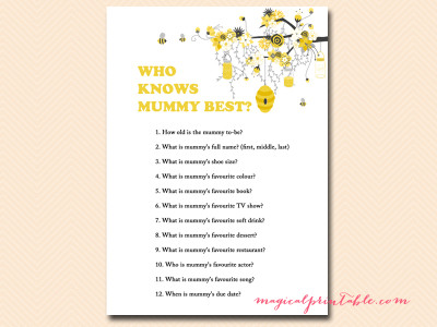 What Will It Bee Gender Reveal Game Set Magical Printable