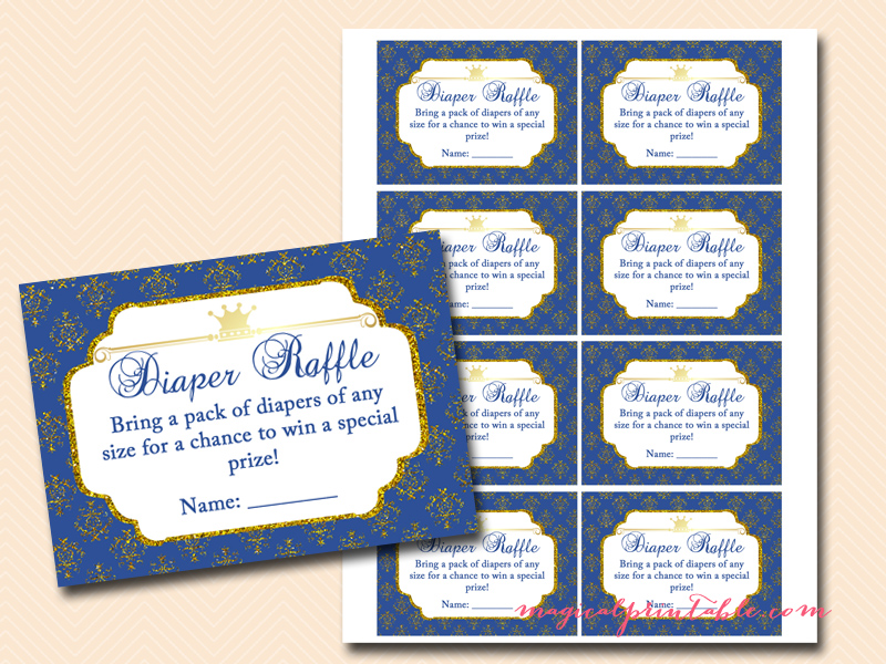Instant Download Royal Blue Prince Baby Word By T