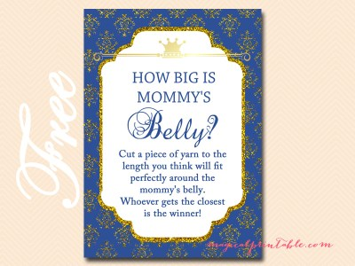 Royal Prince Baby Shower Game Pack Magical Printable
