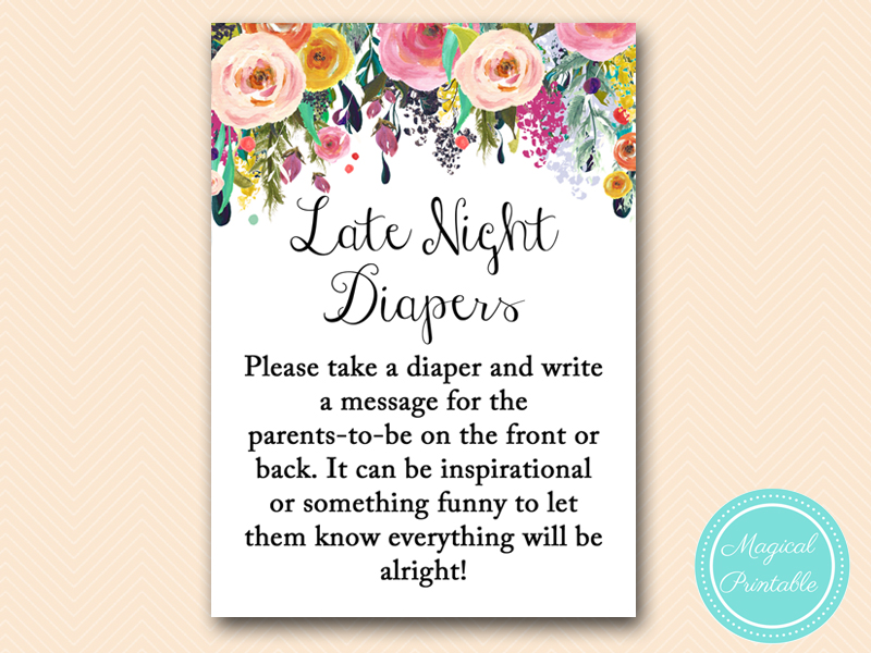 photograph relating to Late Night Diaper Sign Free Printable identify TLC140 Archives - Magical Printable