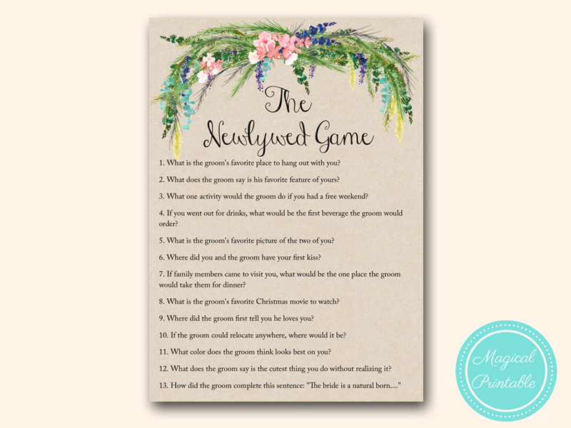 newlywed game luau bridal shower games hawaiian tropical