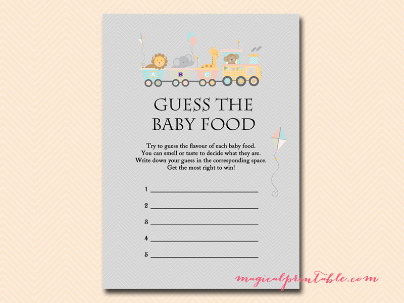 Guess The Baby Food Game Pdf