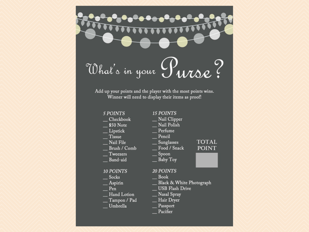 Gray Rustic Baby Shower Game Printables